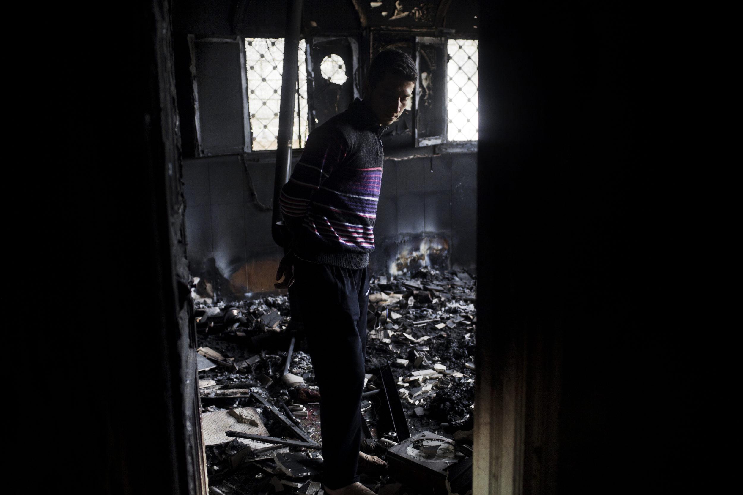 Everything burned. Taftanaz.