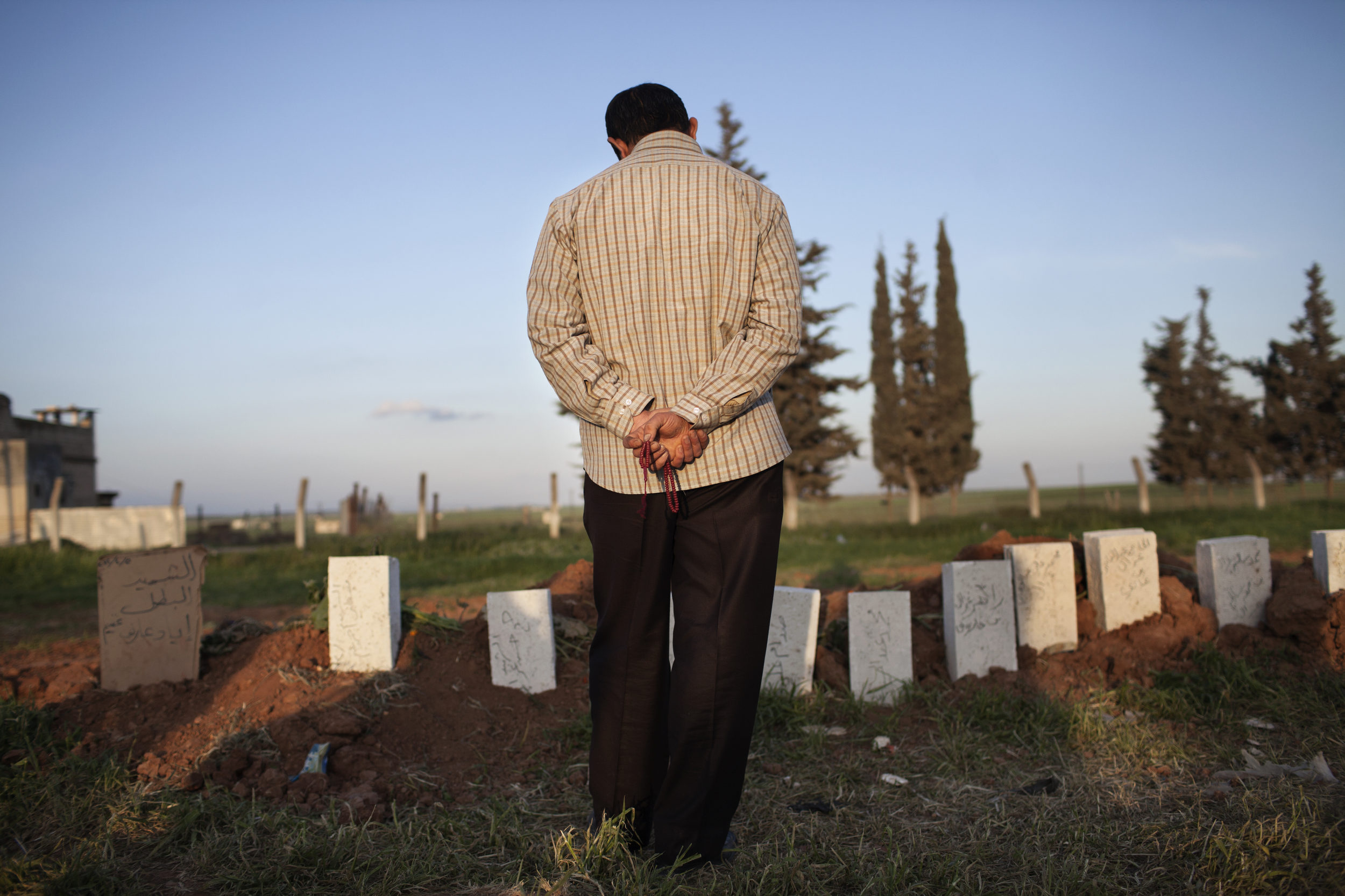 Mass grave, Taftanaz. 82 people were killed in the town by the Assad regime on April 3rd and 4th, 2012.