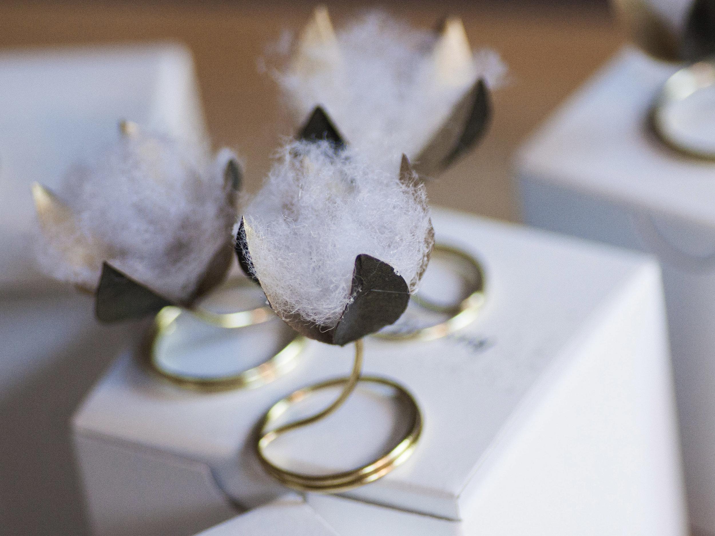 - Cotton Flower Invitations