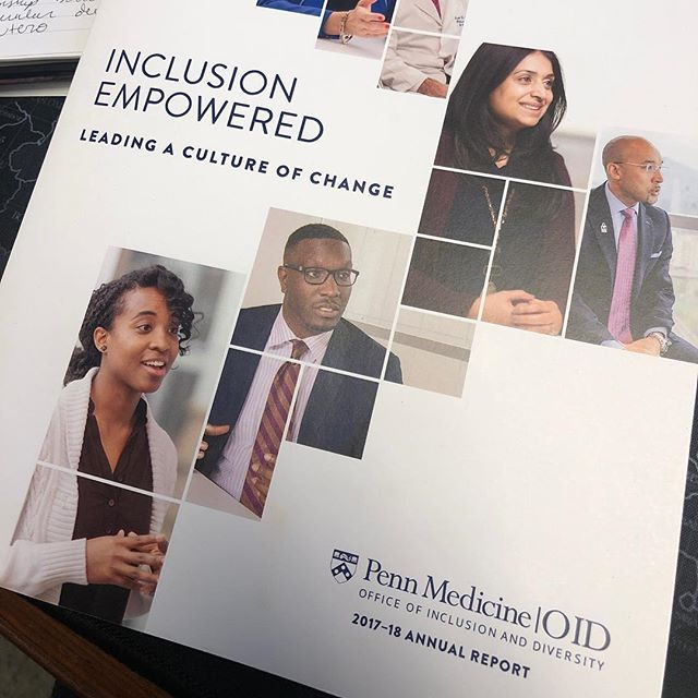 My work is featured in the Perlman School of Medicine's Office of Inclusion and Diversity report since 2016. We're finally getting the work under peer review. Stay tuned because we're making some serious noise.  #PennMedicine #inclusion #diversity #phdlife #upenn
