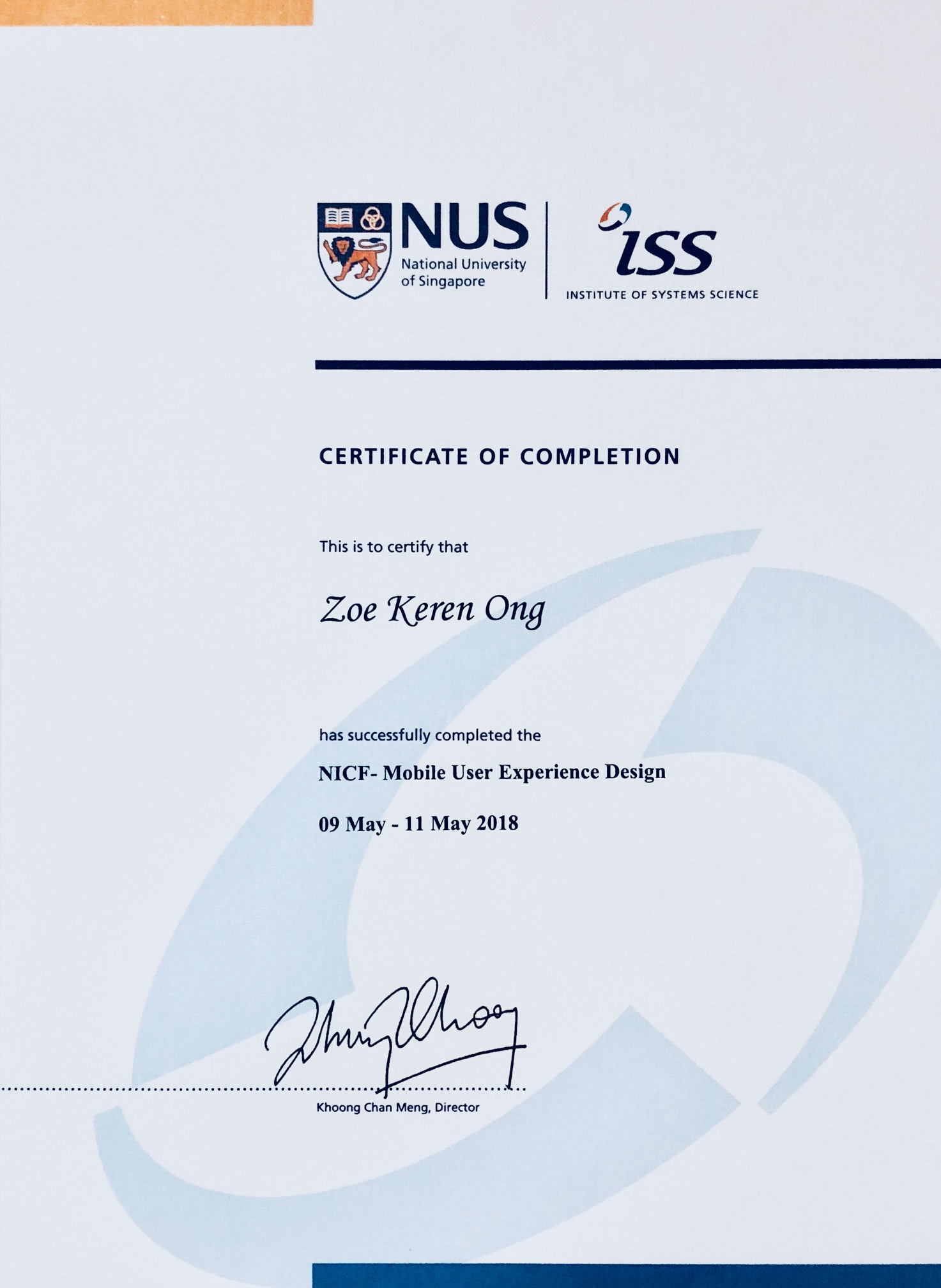 Nus Institute Of Systems Science Zko