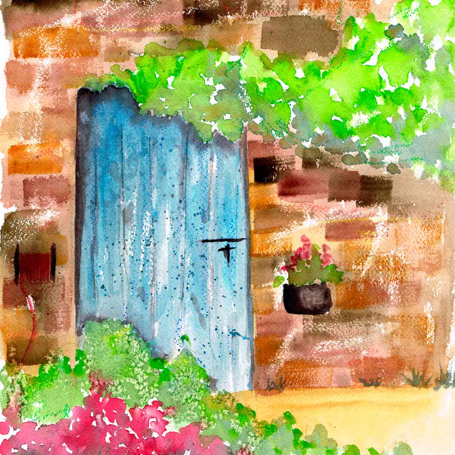 Jan 16 Fast and Loose Watercolour