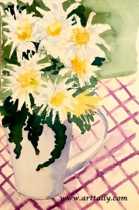 30 Minute flowers no 8 arttally