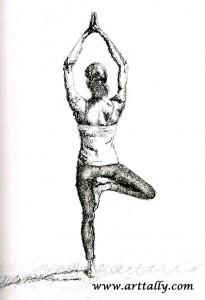 Yoga Values No 1 Tree Pose arttally