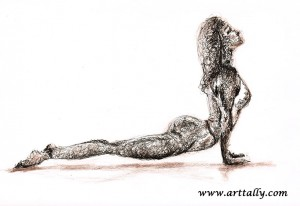 Yoga Values No 3 Upward Dog arttally