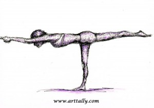 Yoga Values No 2 Warrior 3 arttally