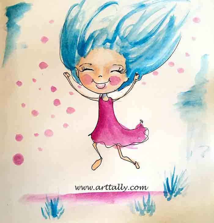 world watercolour month arttally