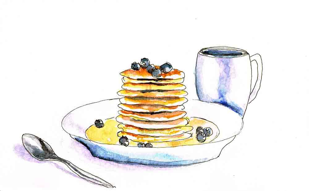 kitchen wall art prints pancakes kw