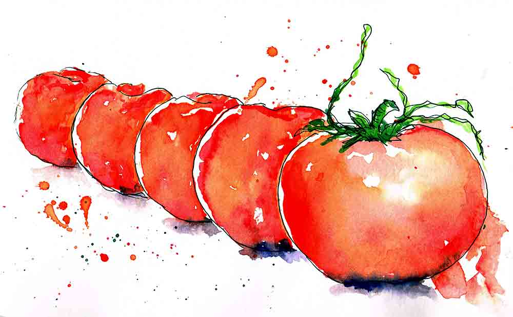 kitchen wall art prints red tomatoes kw
