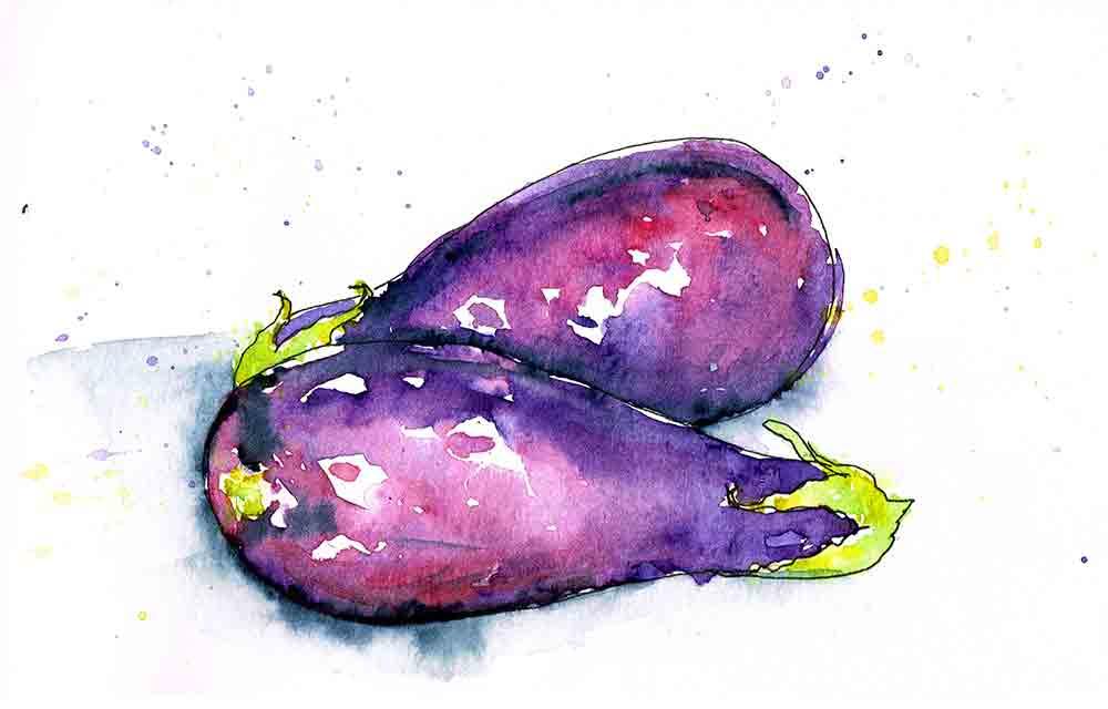 kitchen wall art prints purple aubergine kw