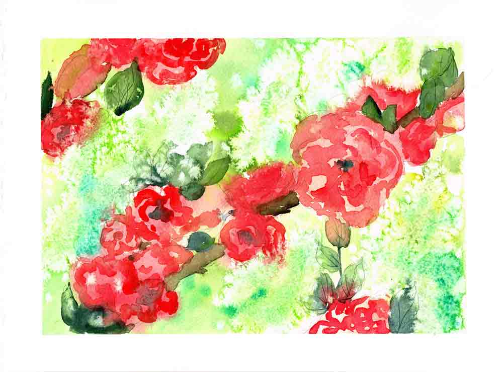 Watercolour flowers no 9 arttally