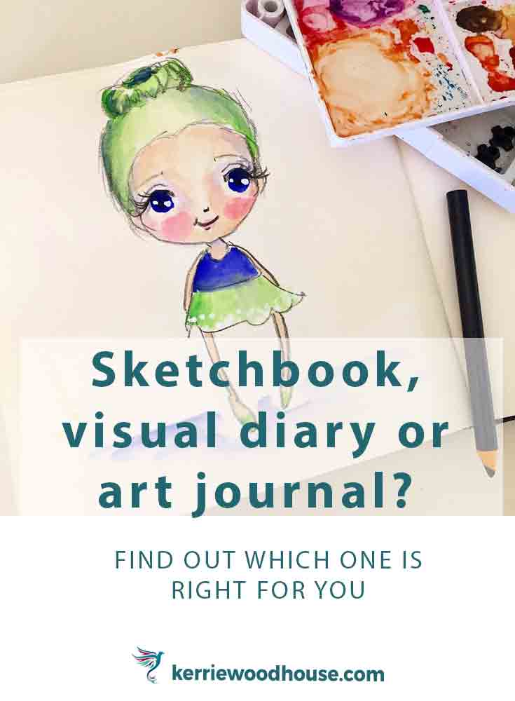 Should a beginner get themselves a sketchbook, visual diary or art journal? What is the difference? Which one is best for you?