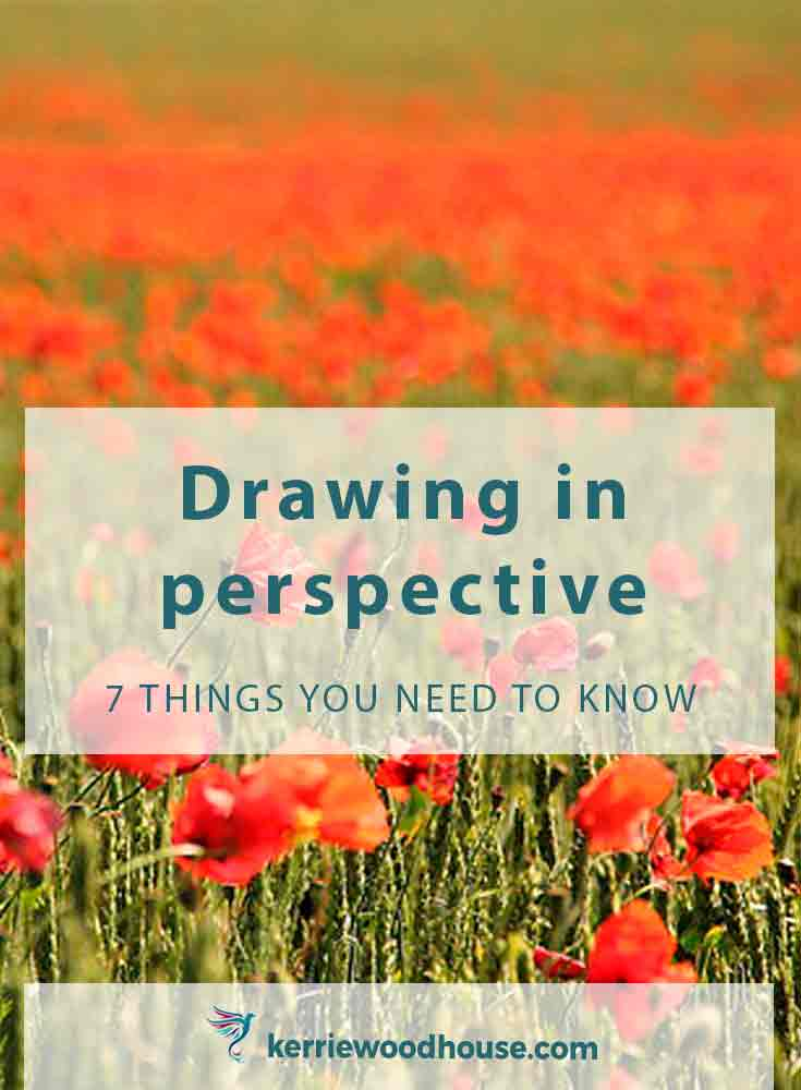 Here are 7 things you need to know about drawing in perspective to add depth and interest to your artwork - easy when you know how!