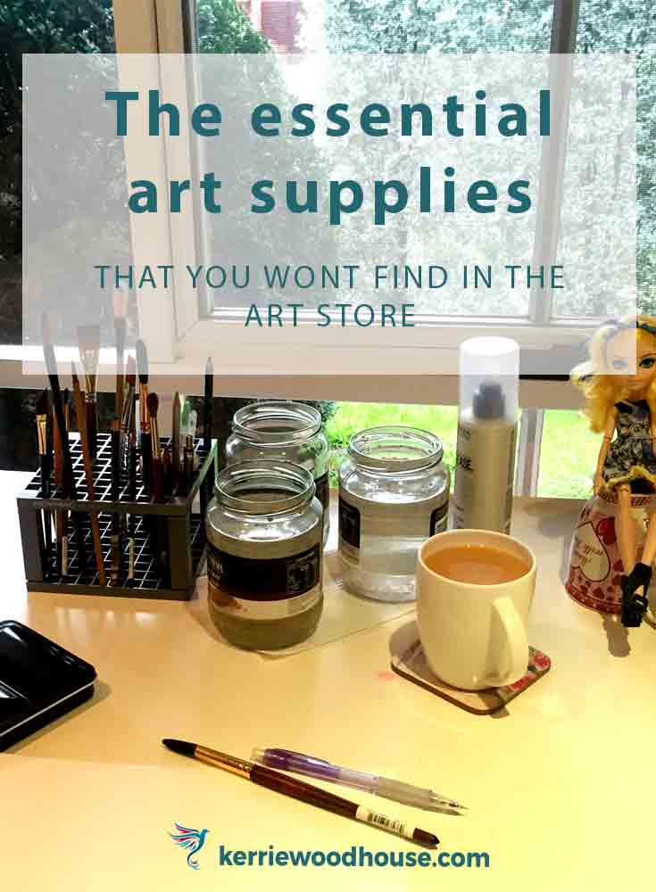 essential art supplies you won't find in the art store