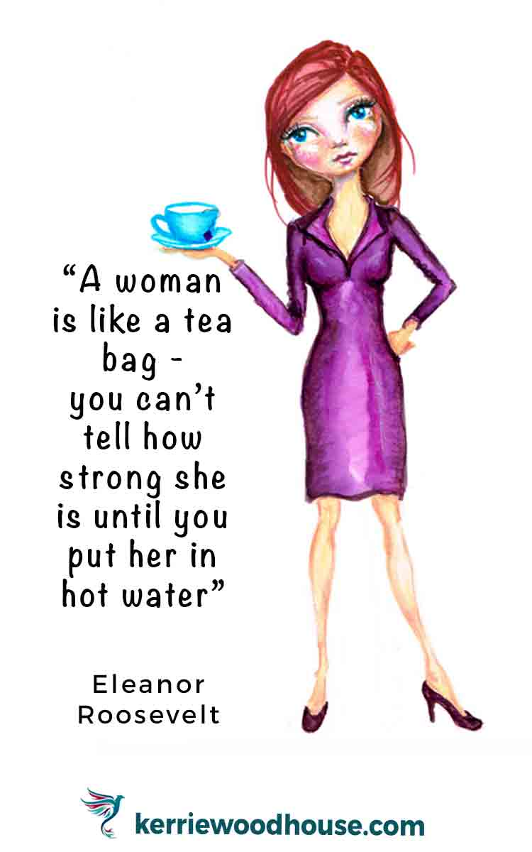 is a woman like a teabag arttally tea time series