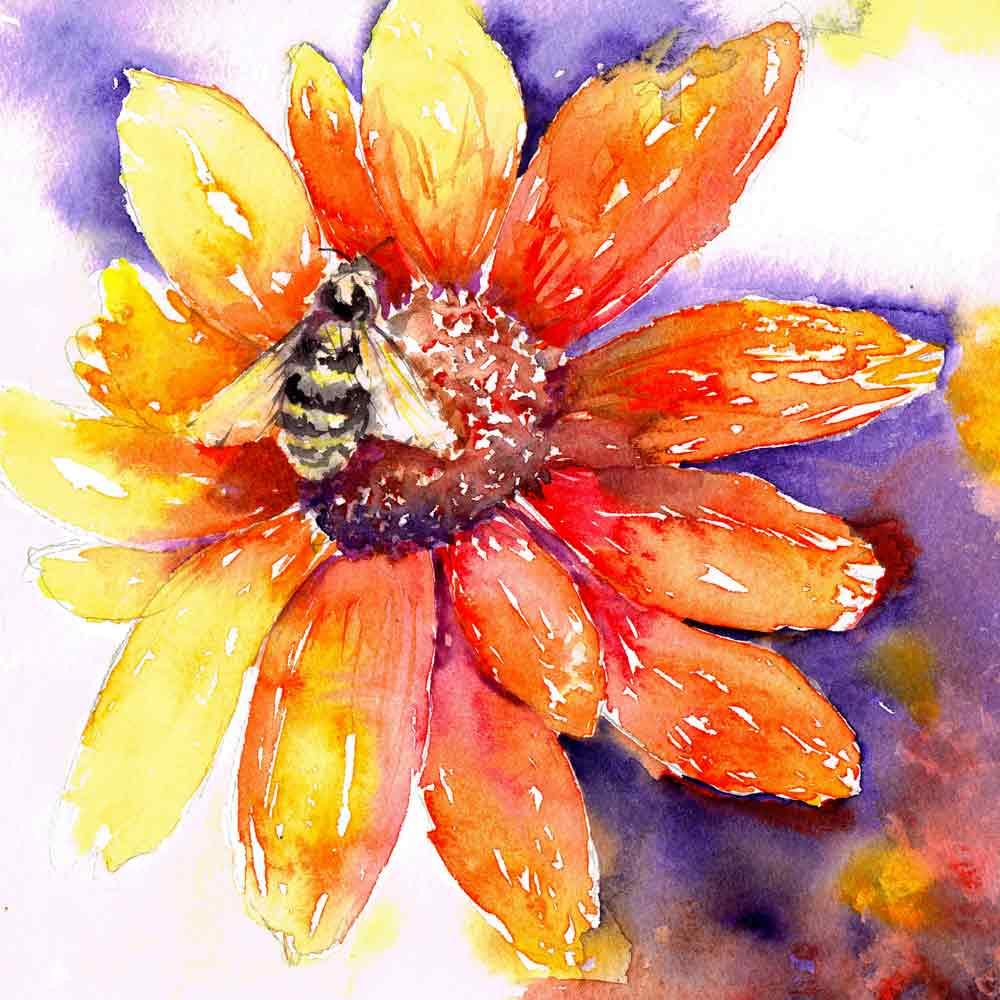 Bugs-Blooms-no-9-orange-flower-and-bee-kw.jpg