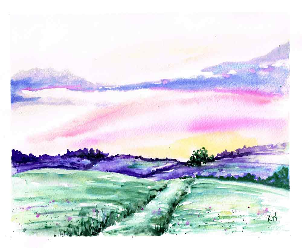 inspiration for painting lavender field