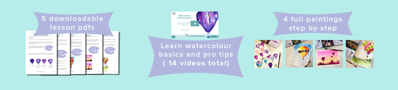 how to use watercolour tubes and paints online class