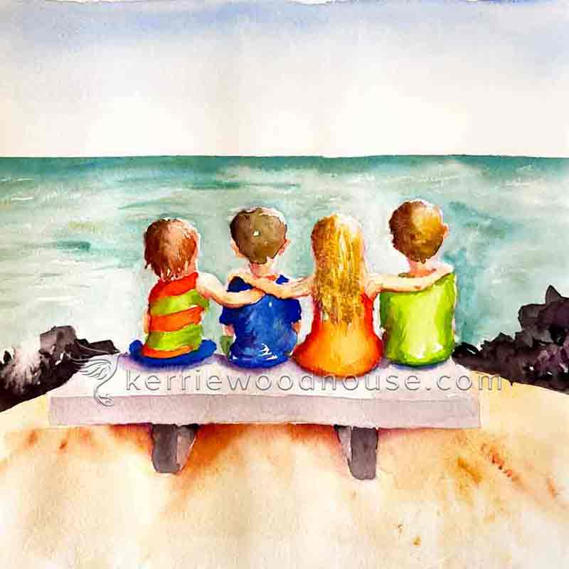 how to add people to paintings-Watercolour-Kids-10-together-kw.jpg