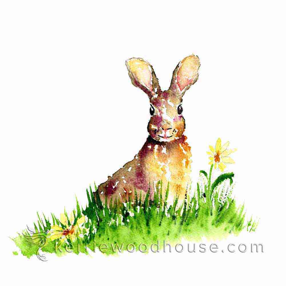 A few background elements are enough to tell this bunny's story…