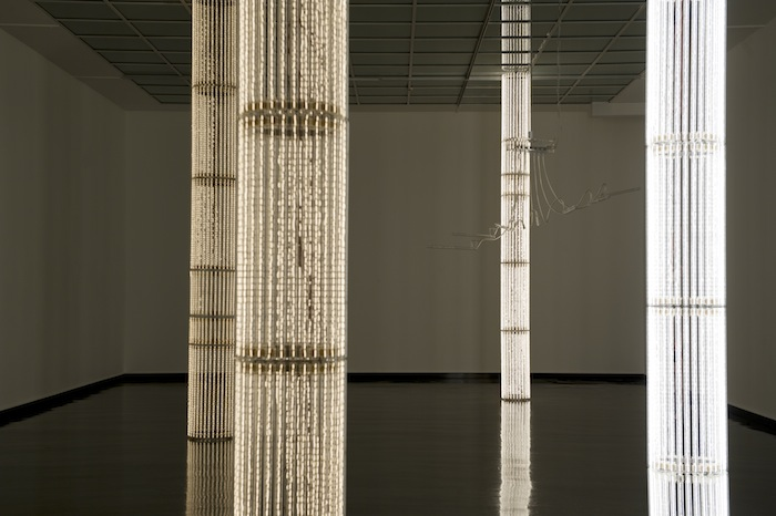 "Cerith Wyn Evans    S=U=P=E=R=S=T=R=U=C=T=U=R=E (""Trace me back to some loud, shallow, chill, underlying motive's overspill…"" ), 2010"