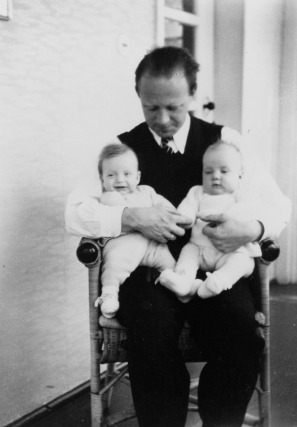 Werner Heisenberg with twins
