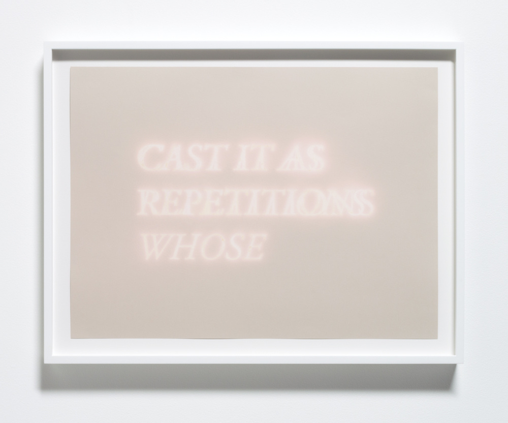Cast It As Repetitions Whose , 2013 Bleach on paper 23 x 17 inches