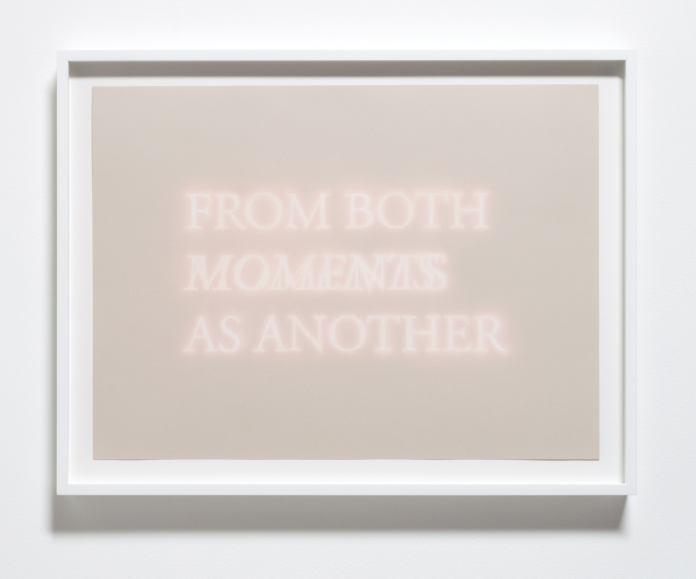From Both Moments As Another , 2013 Bleach on paper 23 x 17 inches