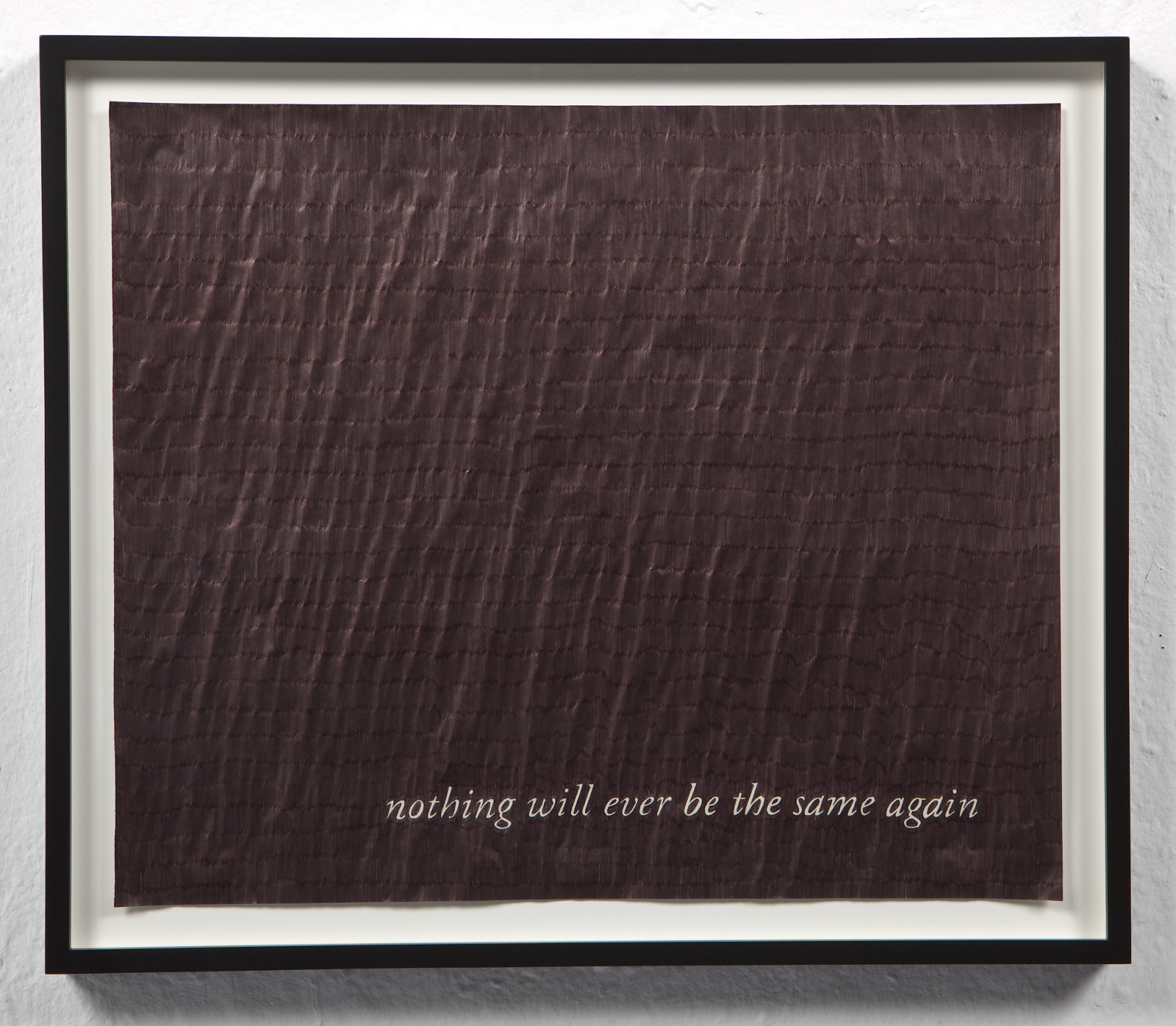 Nothing Will Ever Be The Same Again , 2009 Ballpoint pen ink on paper  20 x 17 inches