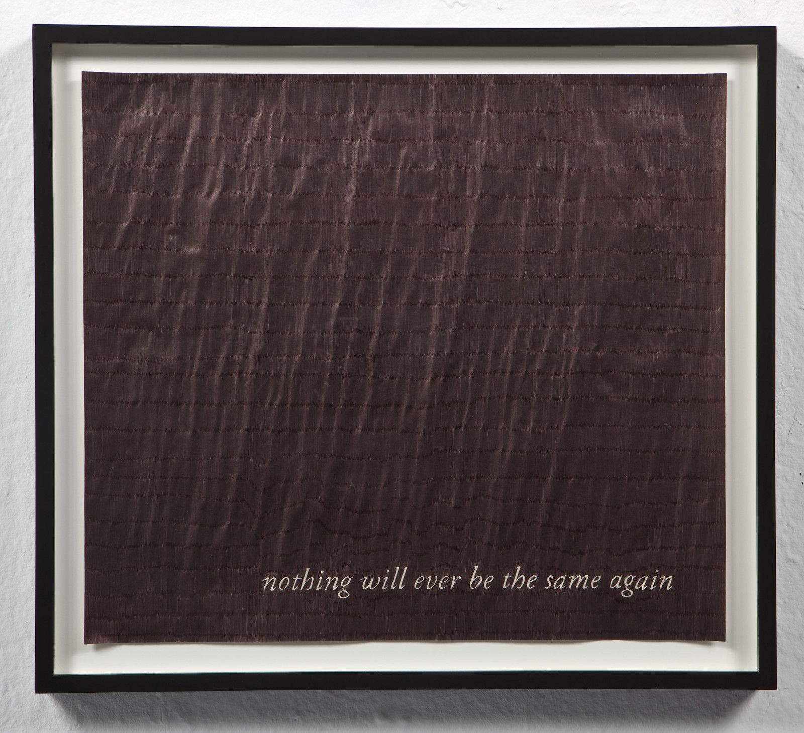 Nothing Will Ever Be The Same Again , 2009 Ink on paper  18 x 16 inches