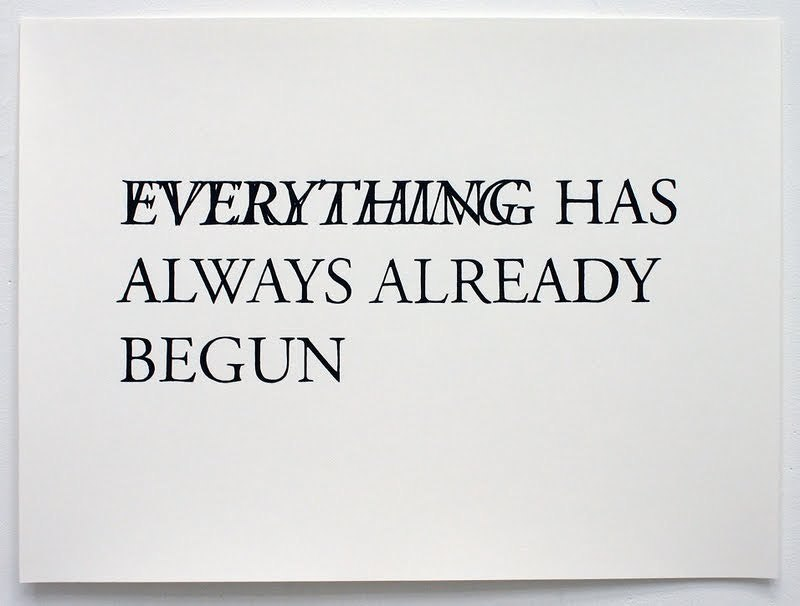 Everything Has Always Already Begun , 2009 Hand drawn ink on paper 23 x 17 inches each