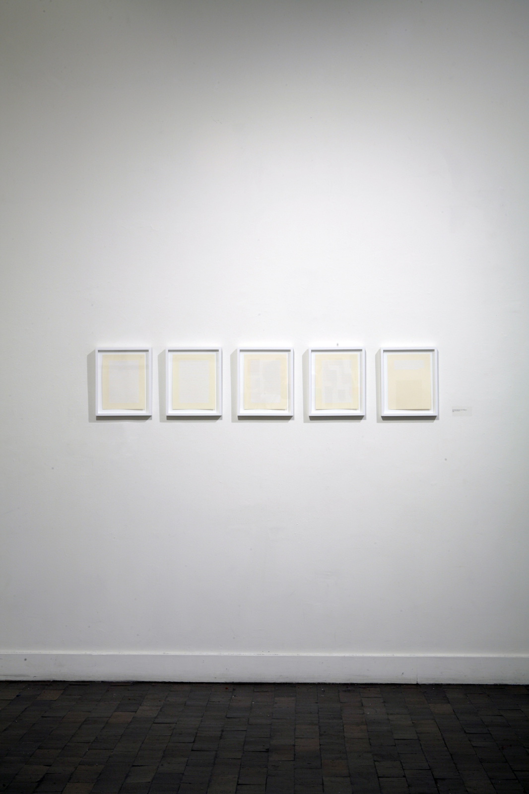 Computing Machinery and Intelligence , 2006 Paper and adhesive 5 pages, 8.5 x 11 inches each