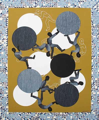 SISYPHUS XII, Paulo Vinulan, Acrylic on Canvas, 2015
