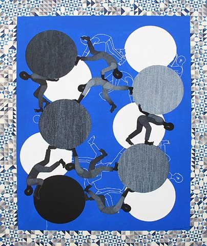 SISYPHUS XI, Paulo Vinulan, Acrylic on Canvas, 2015