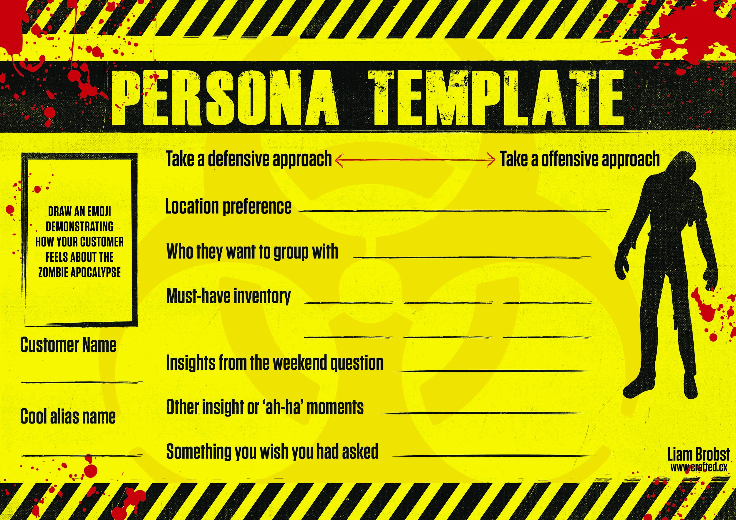LAST Conf // Persona - Following the interview, complete this persona template.Please use under the condition that you leave my name and url on the bottom. Cheers!