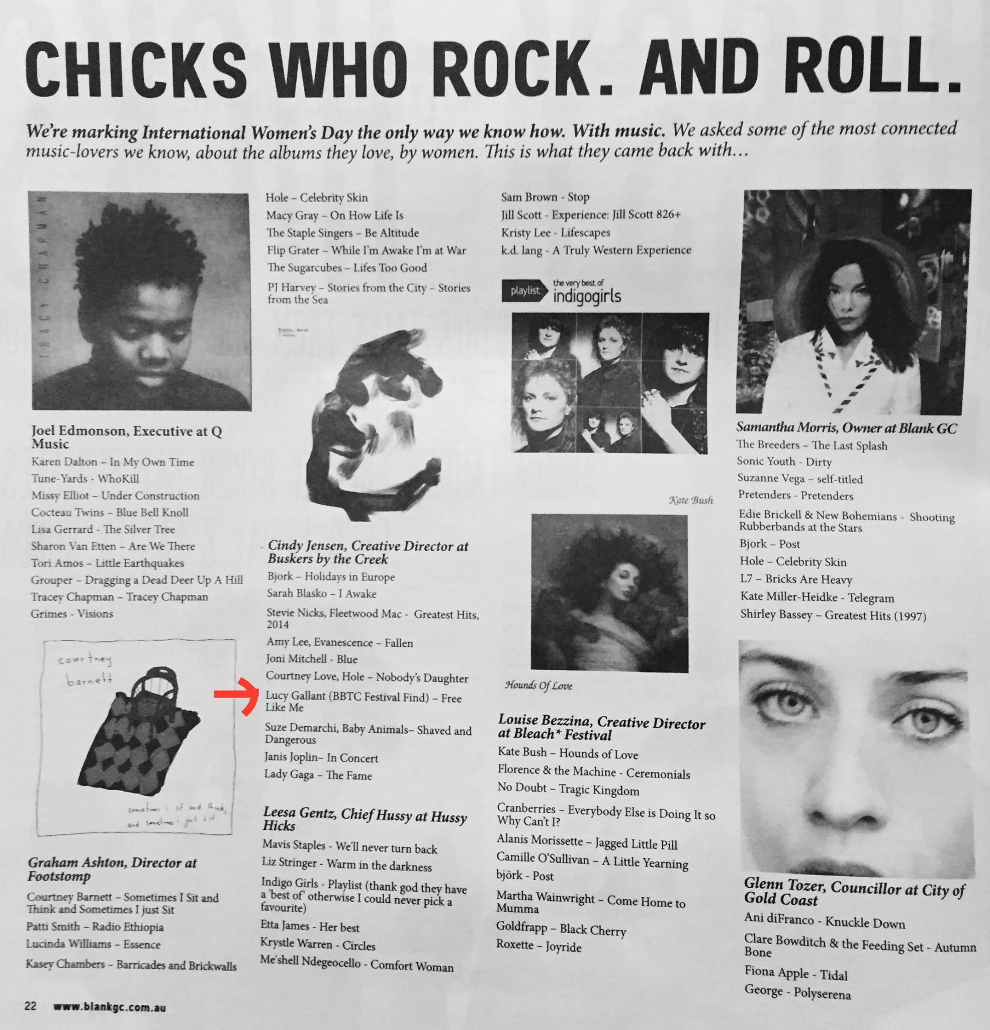 Cindy Jenson  Buskers By The Creek festival  directors favorite female artists.
