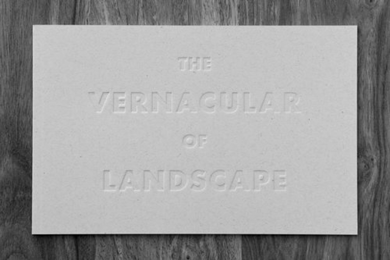 The Vernacular of Landscape Morgane Erpicum