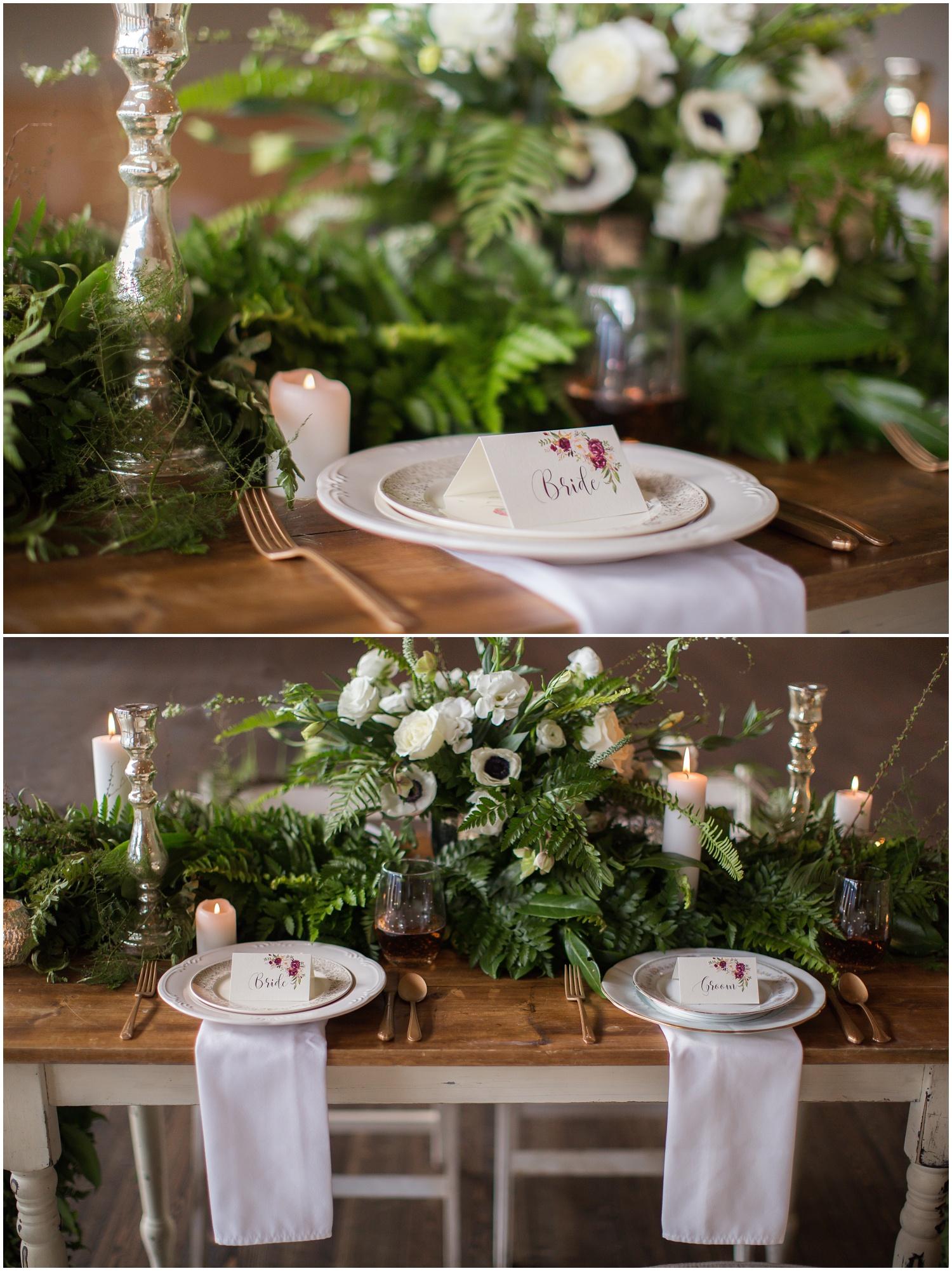 Amazing Day Photography - Fraser River Lodge Styled Session - Woodland Wedding - Green Tones - Green and White Wedding - Blush Wedding Dress - Morilee Wedding Dress - BC Wedding (16).jpg