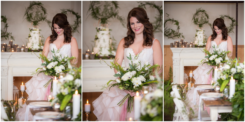 Amazing Day Photography - Fraser River Lodge Styled Session - Woodland Wedding - Green Tones - Green and White Wedding - Blush Wedding Dress - Morilee Wedding Dress - BC Wedding (26).jpg