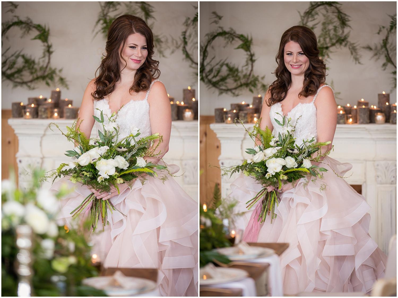 Amazing Day Photography - Fraser River Lodge Styled Session - Woodland Wedding - Green Tones - Green and White Wedding - Blush Wedding Dress - Morilee Wedding Dress - BC Wedding (27).jpg