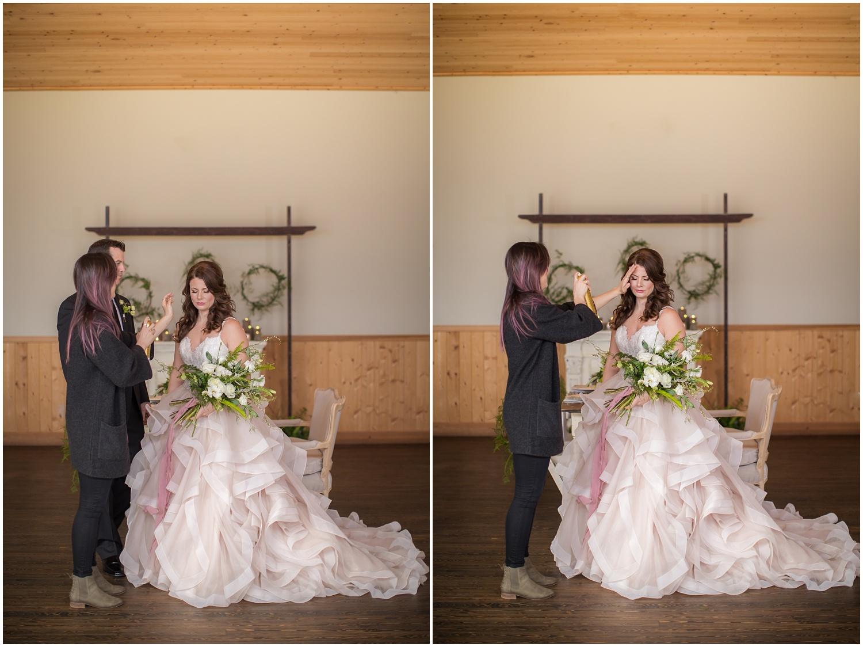 Amazing Day Photography - Fraser River Lodge Styled Session - Woodland Wedding - Green Tones - Green and White Wedding - Blush Wedding Dress - Morilee Wedding Dress - BC Wedding (32).jpg