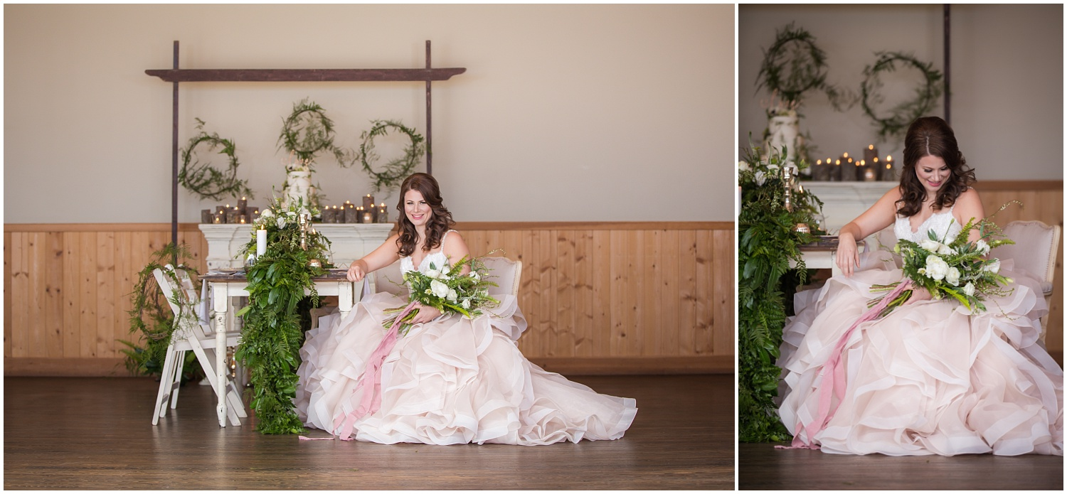Amazing Day Photography - Fraser River Lodge Styled Session - Woodland Wedding - Green Tones - Green and White Wedding - Blush Wedding Dress - Morilee Wedding Dress - BC Wedding (33).jpg