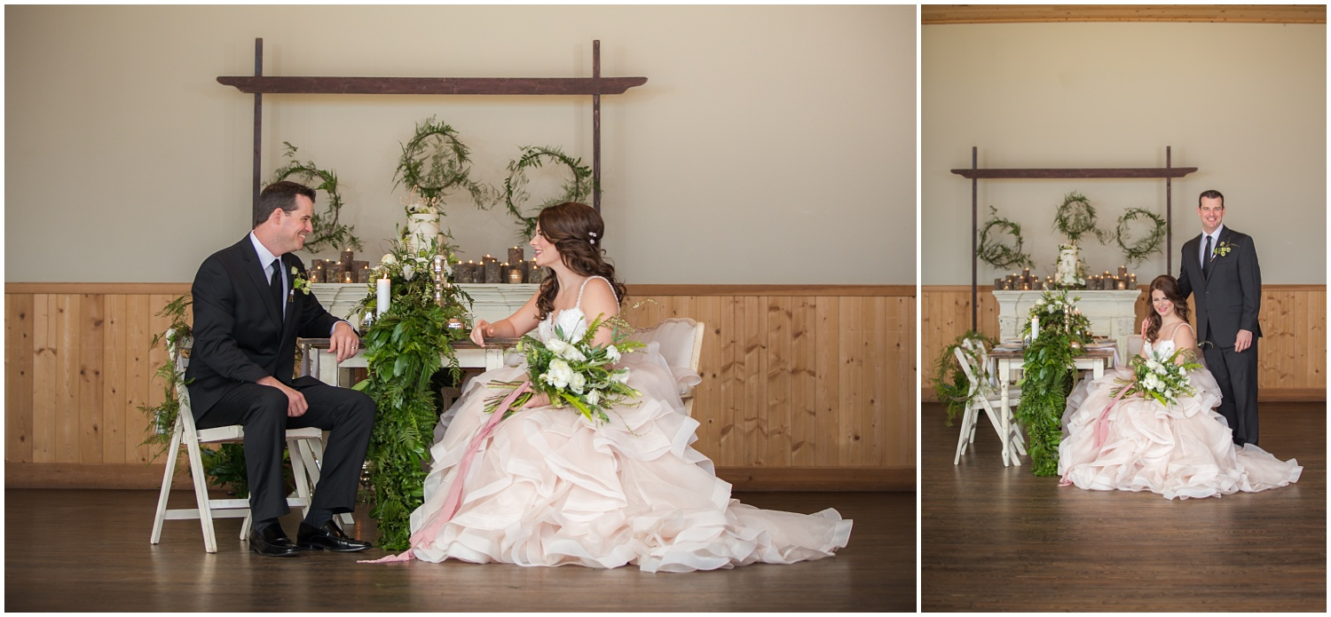 Amazing Day Photography - Fraser River Lodge Styled Session - Woodland Wedding - Green Tones - Green and White Wedding - Blush Wedding Dress - Morilee Wedding Dress - BC Wedding (35).jpg