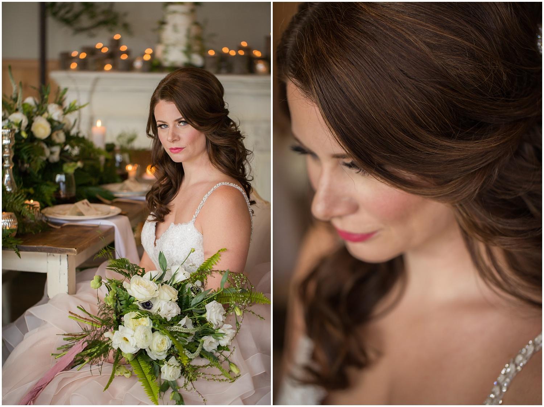 Amazing Day Photography - Fraser River Lodge Styled Session - Woodland Wedding - Green Tones - Green and White Wedding - Blush Wedding Dress - Morilee Wedding Dress - BC Wedding (36).jpg
