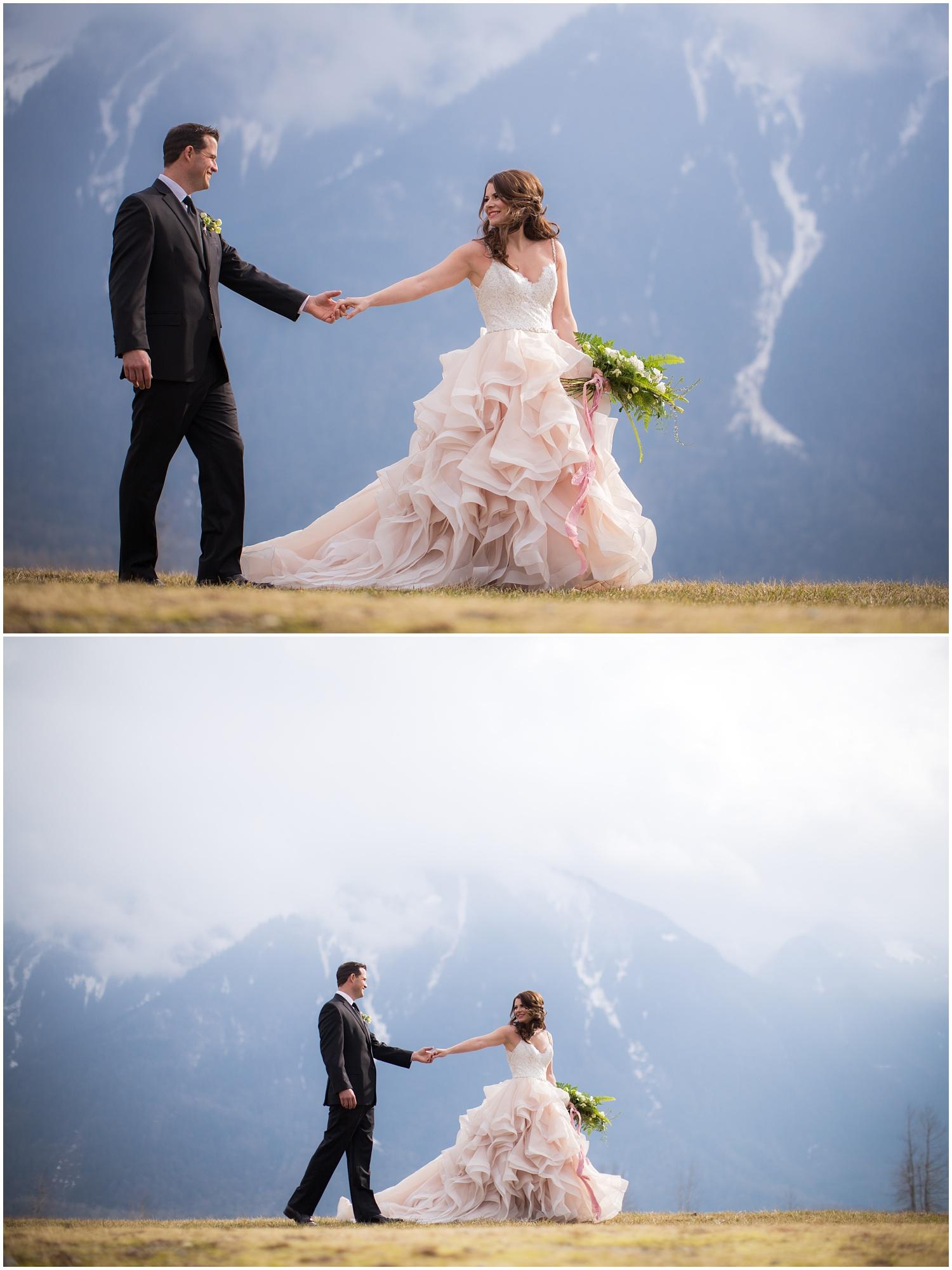 Amazing Day Photography - Fraser River Lodge Styled Session - Woodland Wedding - Green Tones - Green and White Wedding - Blush Wedding Dress - Morilee Wedding Dress - BC Wedding (46).jpg