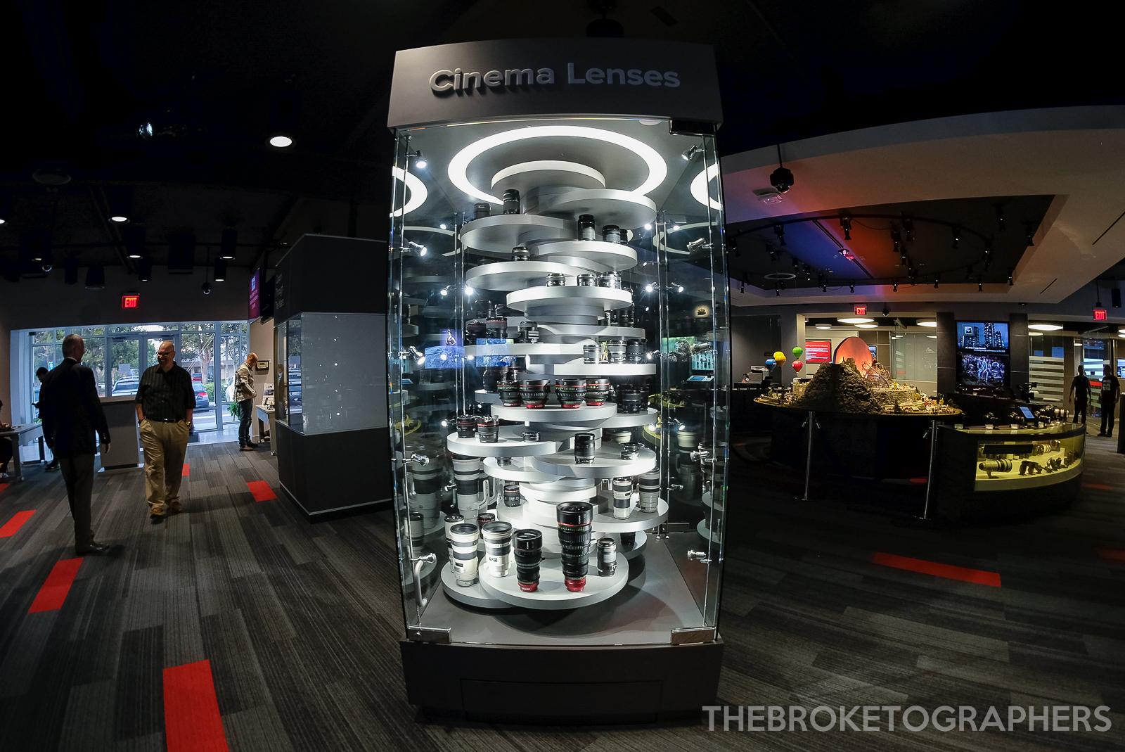 Lens Display, Canon Experience Center - Costa Mesa, CA