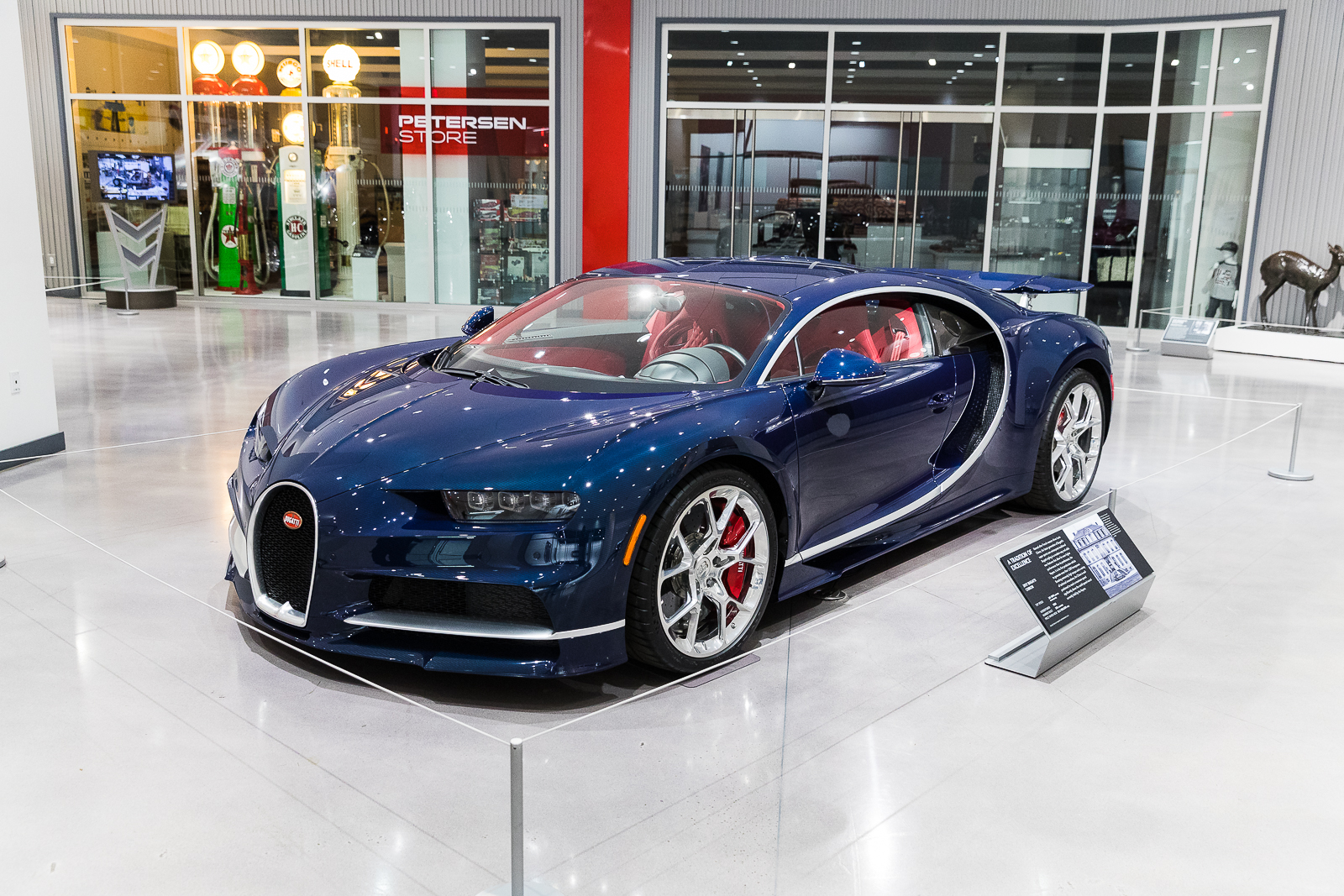 The workshop was conducted at the Petersen Auto Museum in Los Angeles. Prominently on display in the lobby is a $2.6 million Bugatti Chiron.