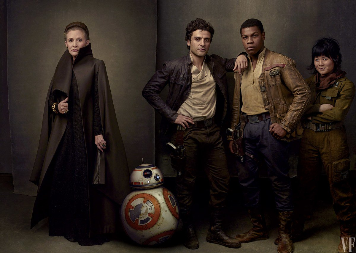 """Oliphant backdrops, used in a Vanity Fair """"The Last Jedi"""" photoshoot."""