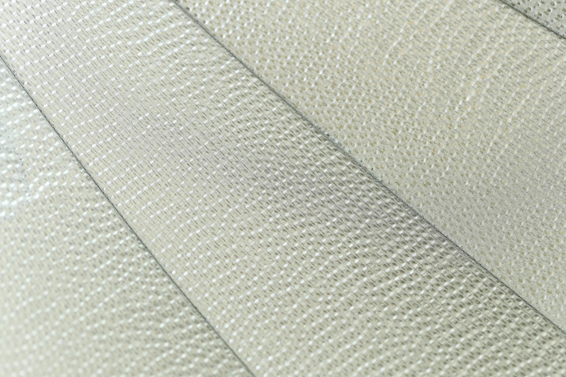 "SMDV MegaBox 110 interior ""embossed silver"" fabric option. A white interior fabric option is also available."