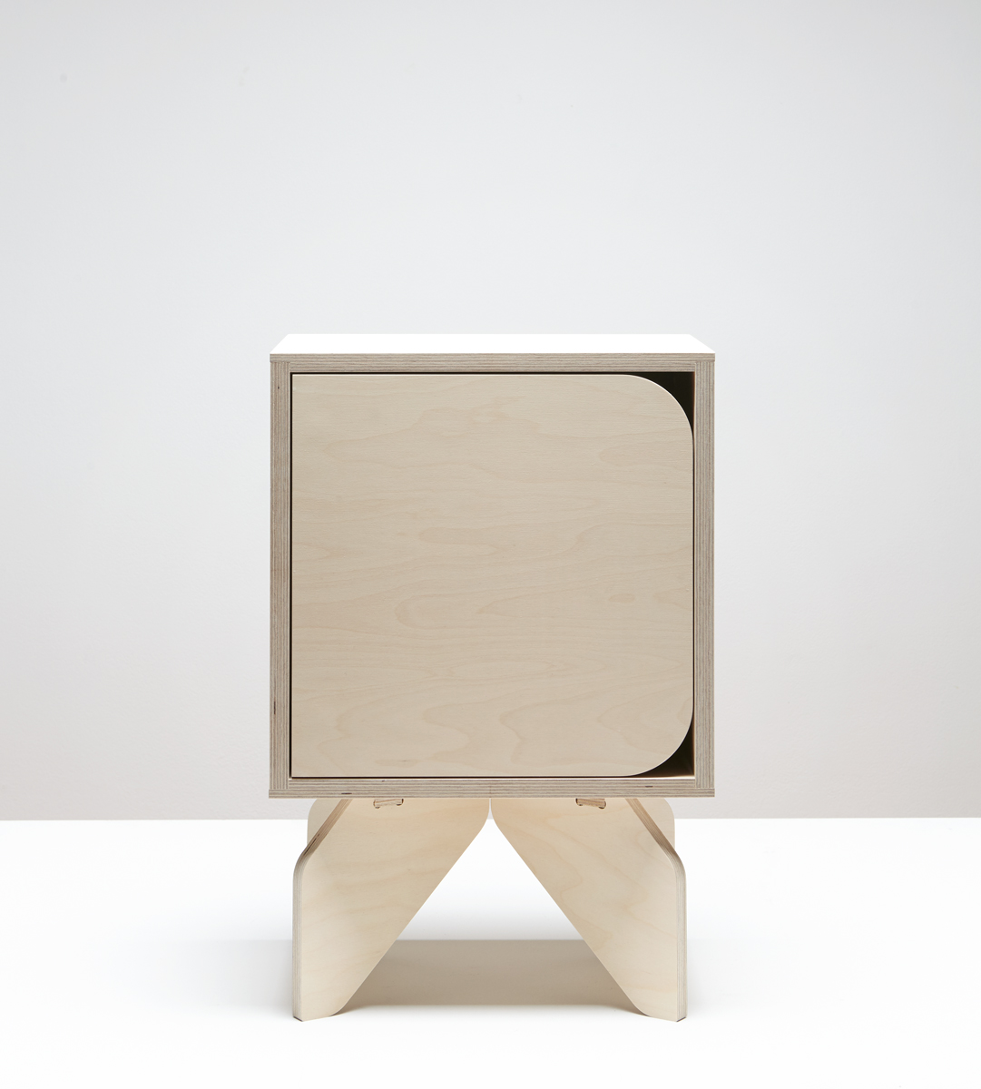 Rocket Bedside - Natural birch plywood. Photo by Thom Brookes photography